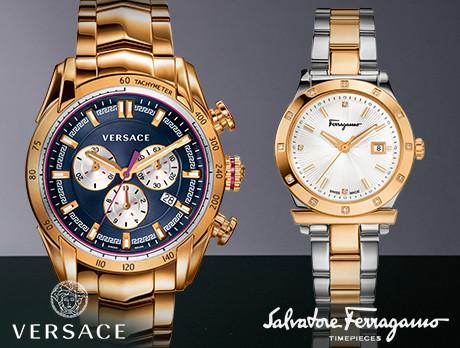 Versace & Ferragamo Watches