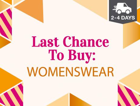 Last Chance to Buy: Womenswear