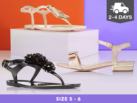 Flats & Sandals: Sizes 5-6