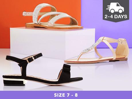 Flats & Sandals: Sizes 7-8