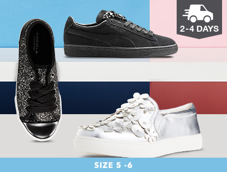 Sneakers for Her: Sizes 5-6