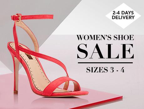 Women's Shoe Sale: Sizes 3-4