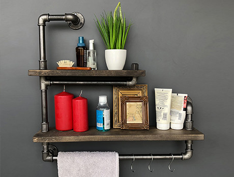 Rustic Rails & Shelves