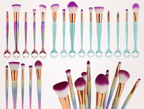 Mermaid Tail Makeup Brush Sets