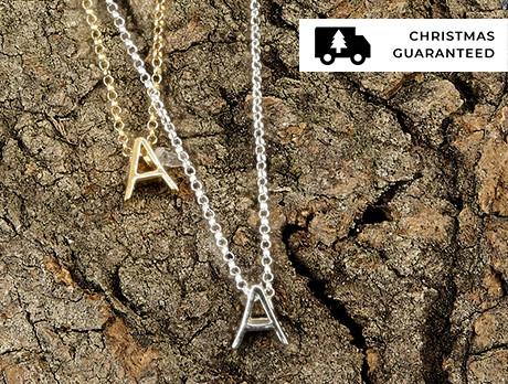 Block Initial Necklaces