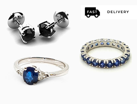 Sapphires & Black Diamond Jewellery