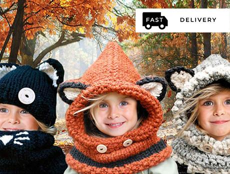 Kids' Animal Hat & Scarf Sets