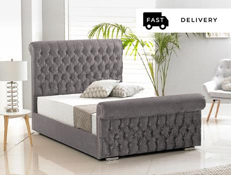 Velvet Buckingham Bed